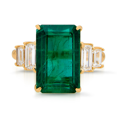Exquisite Panjshir Emerald Ring